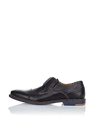 FRETZ men Zapatos Clásicos Domingo (Negro / Azul)