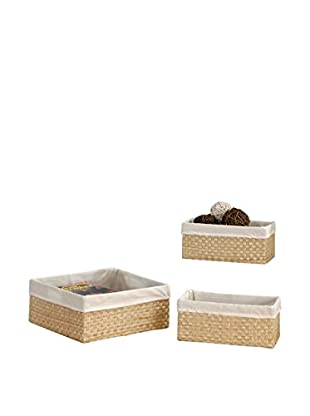 Organize It All Set of 3 Seagrass Baskets, Tan