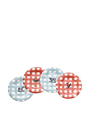 Rae Dunn by Magenta Set of 4 Gingham Farm 6