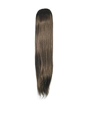 Love Hair Extensions Kunsthaar-Pferdeschwanz Alice mit Krokodilklemme 45cm 4 Chestnut Brown