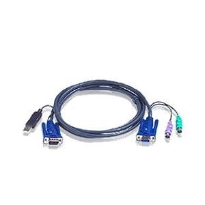 【クリックで詳細表示】ATEN KVMケーブル PS/2-USB 3m 2L-5503UP: パソコン・周辺機器