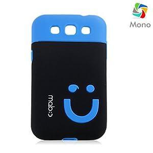 Mono Samsung Galaxy Grand Quattro I8552 Smiley Backcover(Blue-Black)