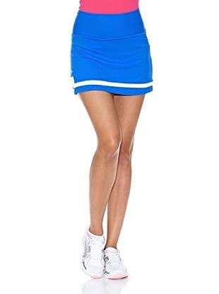 Naffta Falda Short Tenis / Padel (Azul Francia / Blanco)