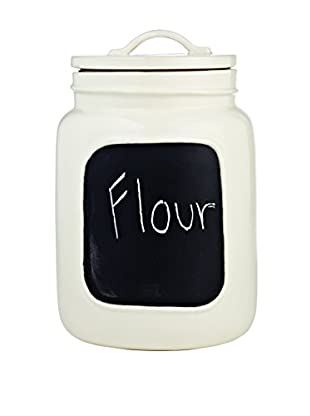 Rae Dunn by Magenta Chalkboard Jar, Large, White