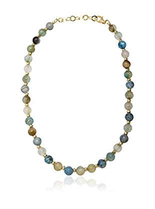 ETRUSCA Halskette 51 cm grün/himmelblau