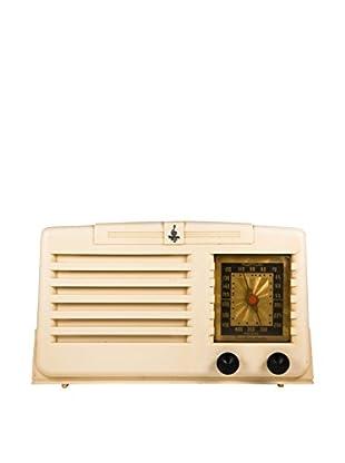 1950s Vintage Emerson Radio, Ivory/Black/Gold