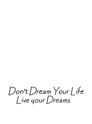 LO+DEMODA Vinilo Decorativo Live Your Dreams Multicolor