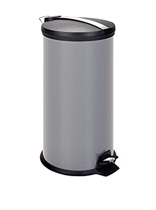 Honey-Can-Do 30L Metal Step Trash Can, Gray