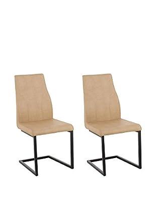 13 Casa Stuhl 2er Set Rusty A3 beige