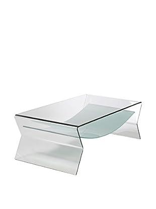 Eurostyle Giacomo Glass Coffee Table, Clear