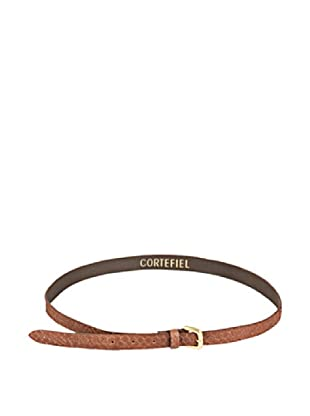 Cortefiel Cinturón Piel Serpiente (Marrón Oscuro)