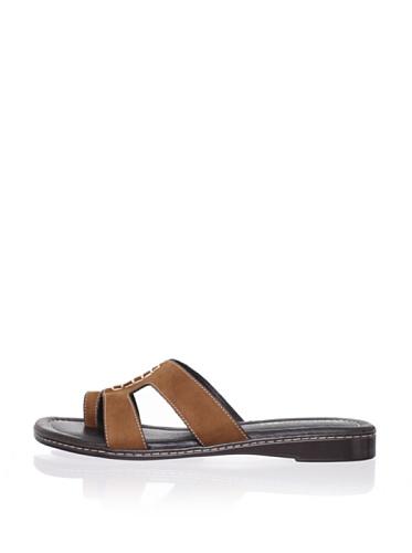 Donald J Pliner Women's Gera Flat Sandal (Beige)
