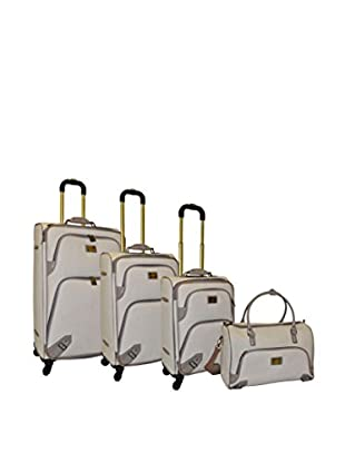 Adrienne Vittadini 4-Pc Luggage Set, Linen