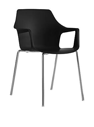 COLOS Stuhl 2er Set Vesper 2 schwarz/chrom
