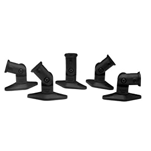 Vantage Point SATS05B Satellite Speaker Mounts for Home Theater Systems - Black (5-Pack)