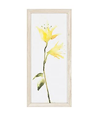 Surya Yellow Water Color Flower Wall Décor, Multi, 26