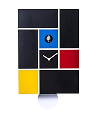 Diamantini & Domeniconi Reloj De Pared Mondrian Negro/Multicolor