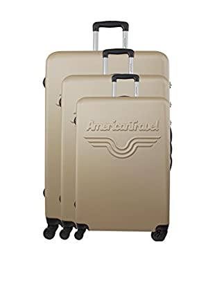 AMERICAN TRAVEL 3er Set Hartschalen Trolley Chelsea
