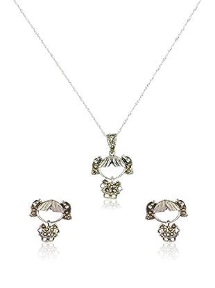 Cordoba Jewels Set Kette, Anhänger und Ohrringe Sterling-Silber 925