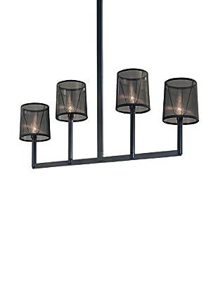 Sonneman Lighting Silhouette-4-Light Bar, Satin Black/Black