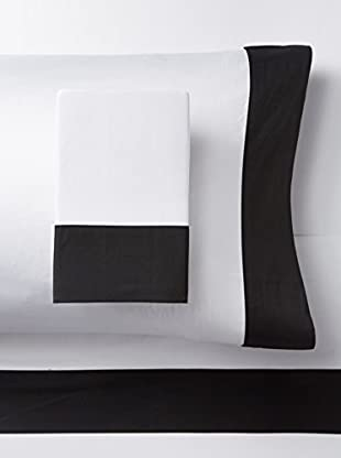 Westport Linens 300 TC Framed Border Sheet Set (Black/White)
