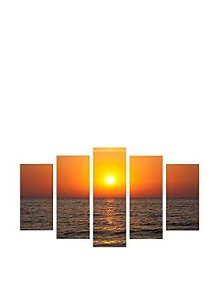 LO+DEMODA Leinwandbild 5 tlg. Set Special Sun