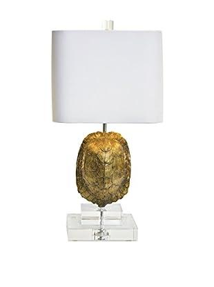 Couture Tortoise 1-Light Mini Lamp, India Gold