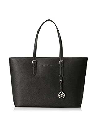MICHAEL Michael Kors Women's Jet Set Medium Travel Multifunction Tote, Black