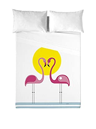 DAVID DELFIN Juego De Sábanas Pink Flamingos