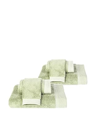 Home Source6-Piece Bath Set, Moss/Ivory