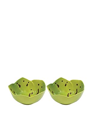 Mustardseed and Moonshine Set of 2 Orchid Ramekins, Orchid Green