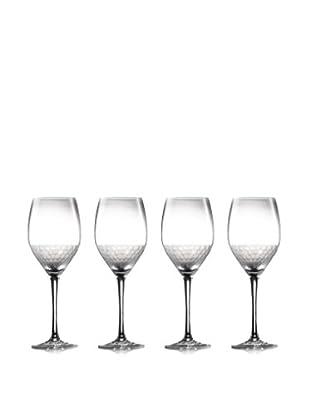 Jay Imports Set of 4 Daphne Wine Goblets, Clear, 15.5-Oz.