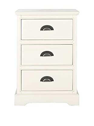 Safavieh Griffin 3-Drawer Side Table, White