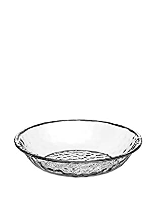 Pebbled Acrylic Serving Bowl, Clear