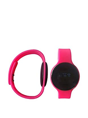 Bluetooth Smartwatch with Silicone Strap, Pink
