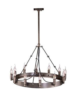 Zuo Limestone Ceiling Lamp, Rust