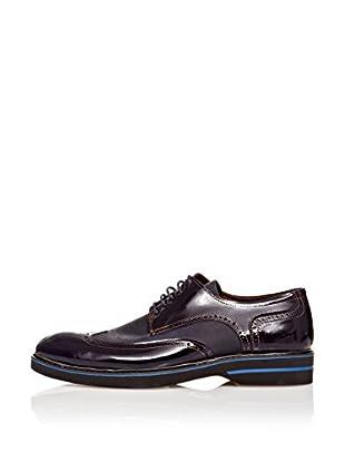 Paolo Massi Zapatos Derby Cordones (Azul Oscuro)