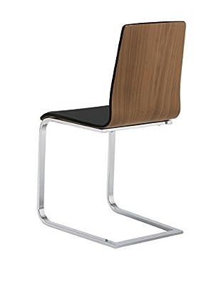 Domitalia Juliet Chair, Walnut Black