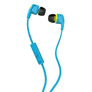 Skullcandy S2PGFY-327 Smokin' Buds 2 with Mic1 Earphones/Earbuds Stereo Headphone - Hot Blue/Hot Lime