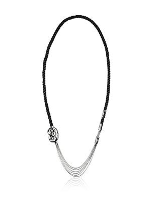 Elisabeth Landeloos Halskette Black Satin 100 cm