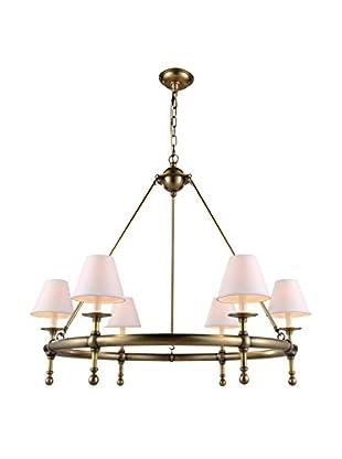 Urban Lights Montgomery Medium 6-Light Pendant Lamp, Antique Bronze