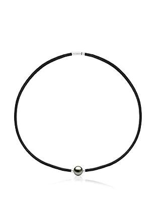 Manufacture Royale des Perles du Pacifique Halskette rhodiniertes Silber 925