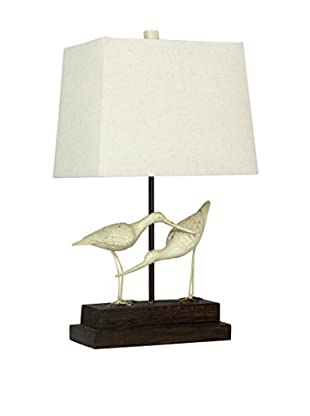 StyleCraft Sandpipers 1-Light Table Lamp, Sand/White