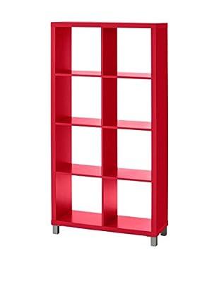 Multicolor Home Bücherregal F2 rot