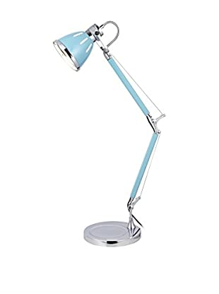 De-sign Lights Tischlampe Jerona blau/chrom
