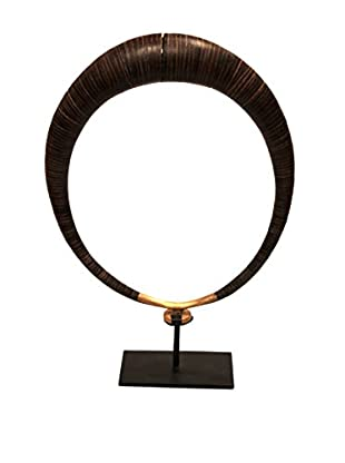Asian Loft Nias Wood Necklace on Stand, Brown/Black
