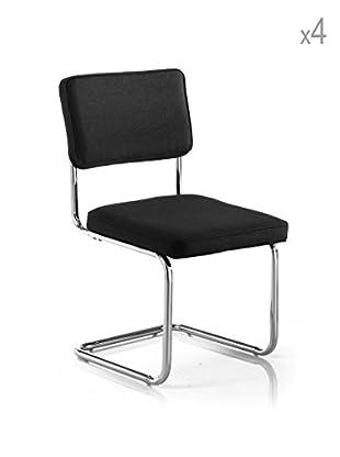 Tomasucci 4er Set Stühle Susan schwarz