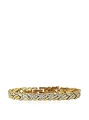 Shiny Cristal Armband  vergoldetes Metall 24 kt/silberfarben
