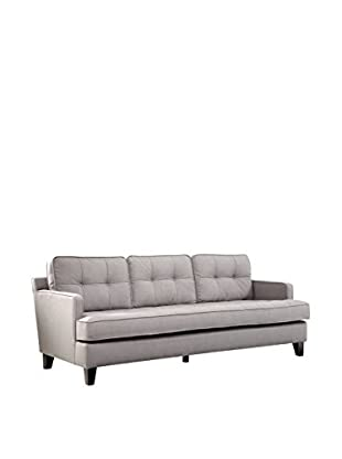 Armen Living Eden Sofa Cement Gray Fabric, Gray