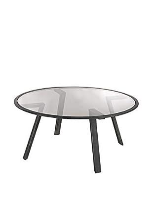 Artistic Geometric Mid Century Coffee Table, Pewter